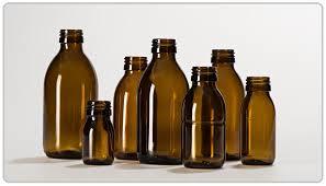 بطری شیشه ای دارویی